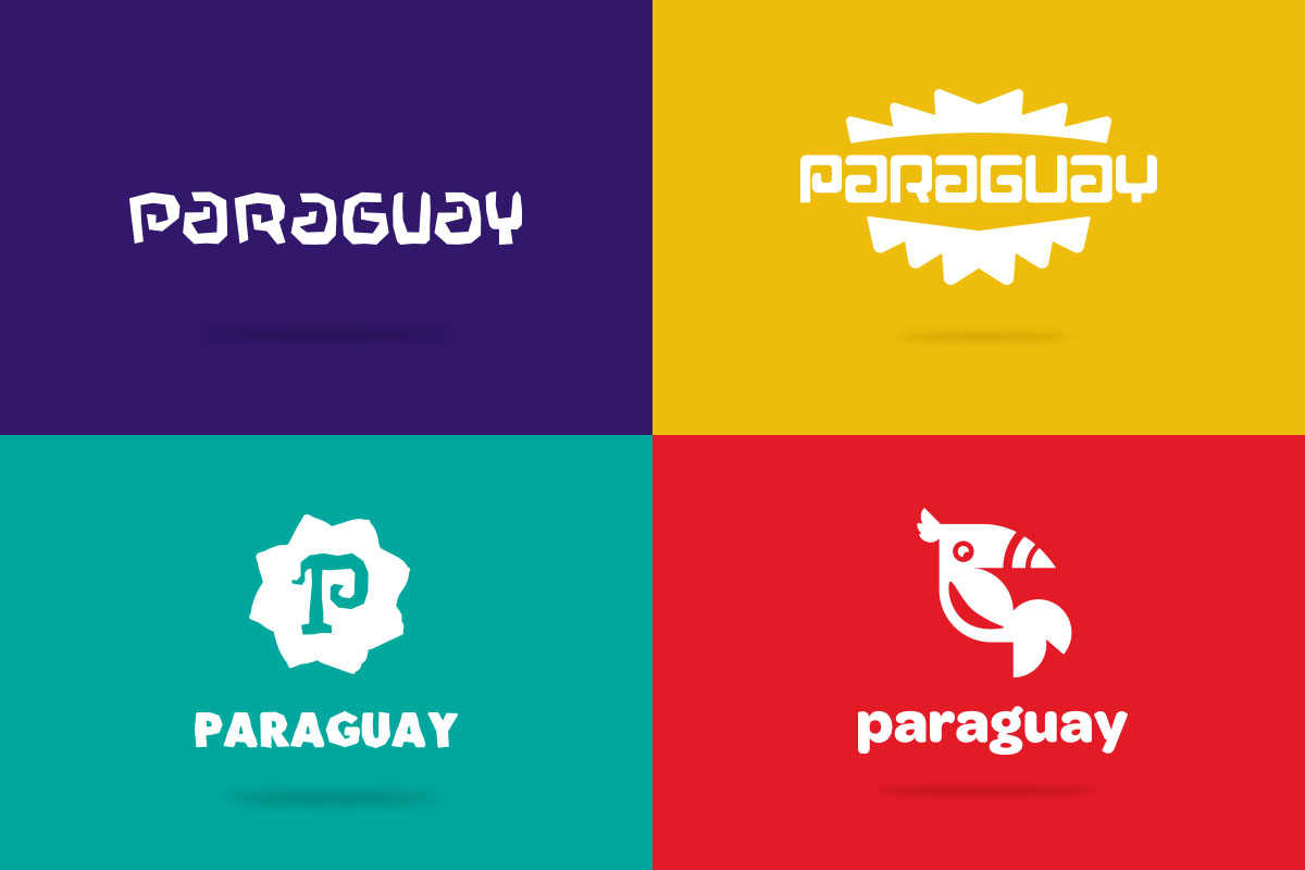 Four finalized logos for Paraguay