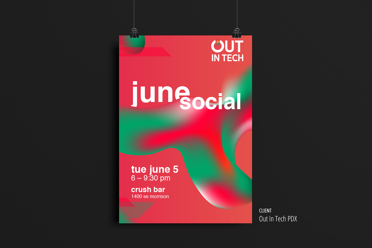 Out In Tech — June Social poster