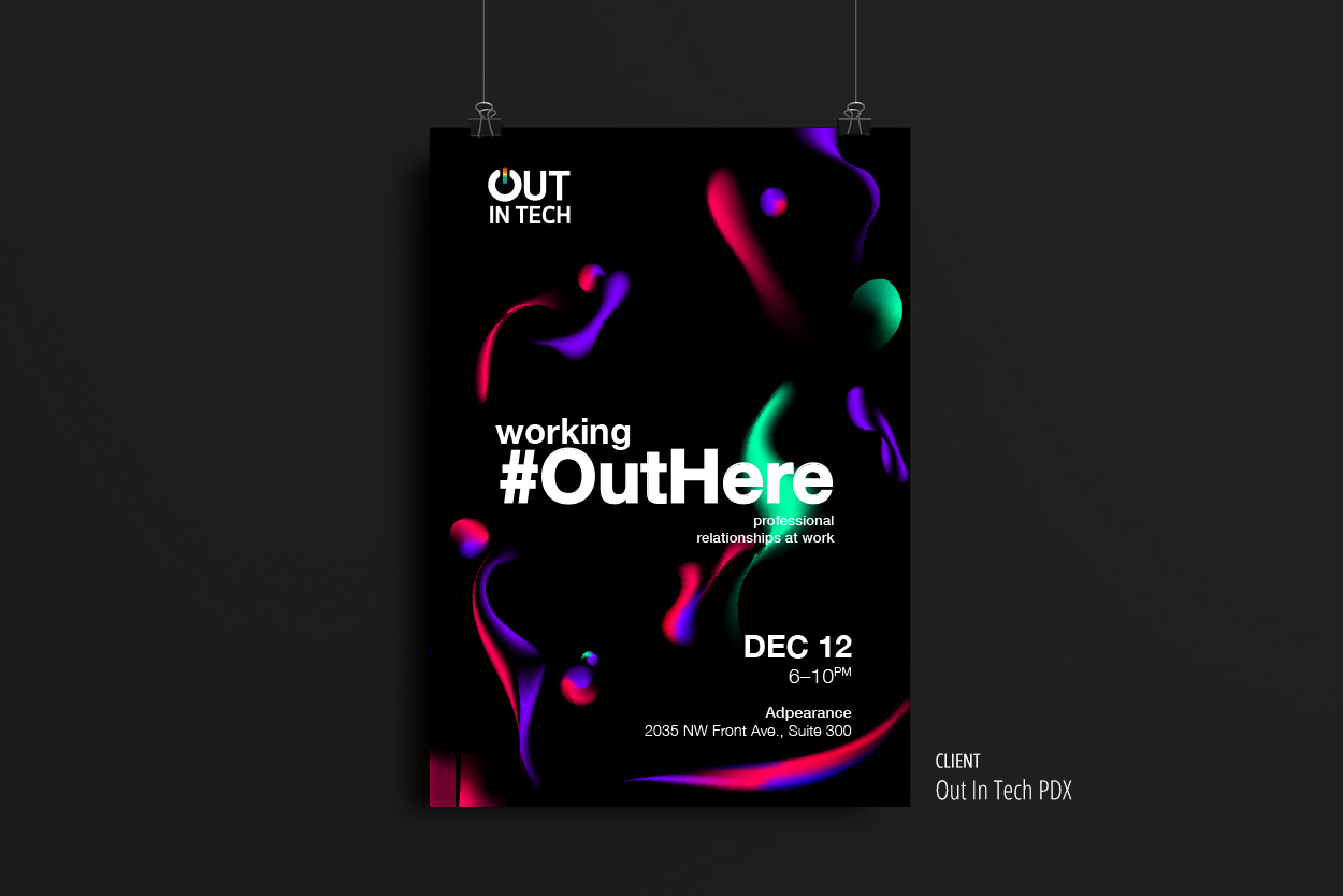 Out In Tech — #WorkingOutHere Event poster