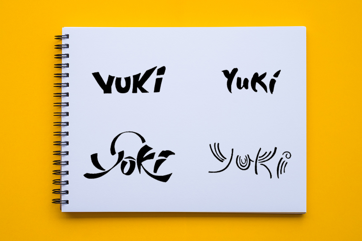 Yuki Wordmark creation
